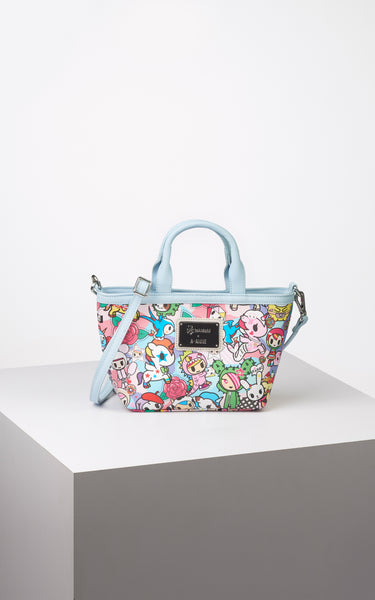 TDxAN Pop Camo (Blue) Mini Tote Bag - A.Anne, Tokidoki, Ashlyn Anne, Fashion, Handbags, School, Bag, Accessories