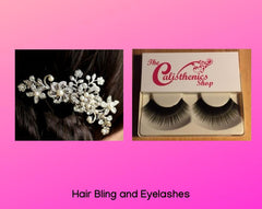 Hair Bling and Eyelashes