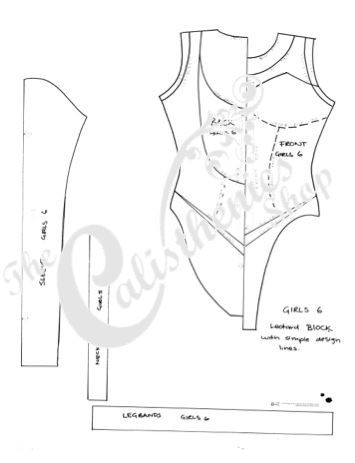 CLUB PACK Basic Block Pattern With Simple Design Lines 40 Of Each Inspiration Leotard Pattern