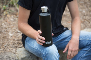 Cheeki: 1 Litre Classic Insulated Bottle - Matte Black