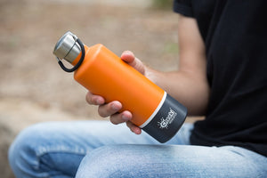 Cheeki: 600ML Classic Insulated Bottle - Orange Grey