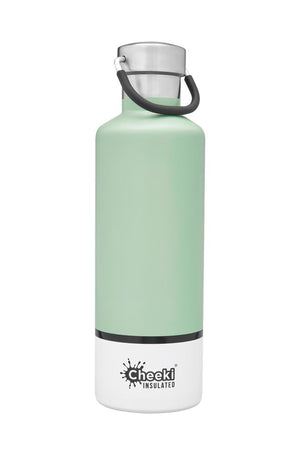 Cheeki: 600ML Classic Insulated Bottle - Pistachio White