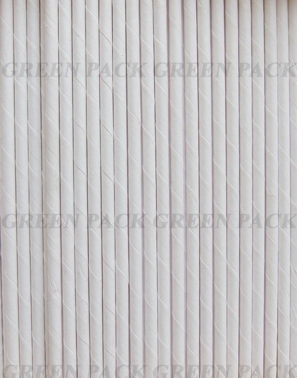 Jumbo Paper Straw White, Pack of 1000pcs