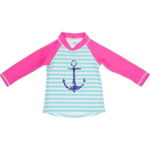 BANZ® Girls Long Sleeve Rash Top - Anchor