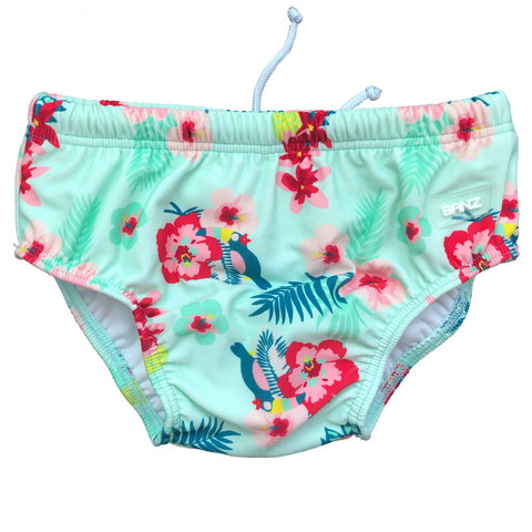 BANZ® Baby Girls UV Swim Nappy - Mint Pansy
