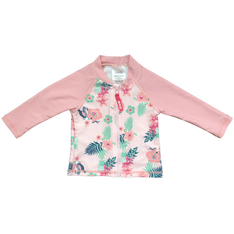 BANZ© Girls Long Sleeve Rash Top - Pink Pansy