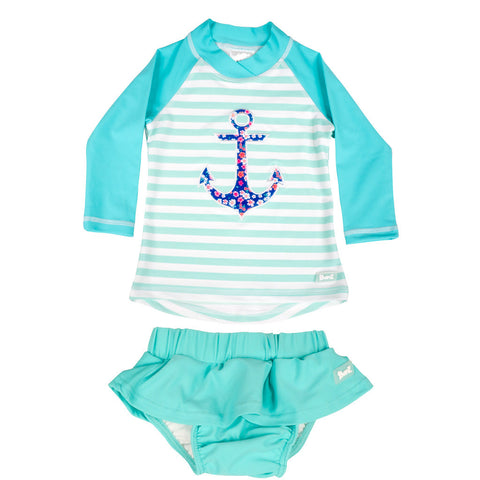 BANZ© Toddler Girls 2 Piece Long Sleeve Swimsuit Set