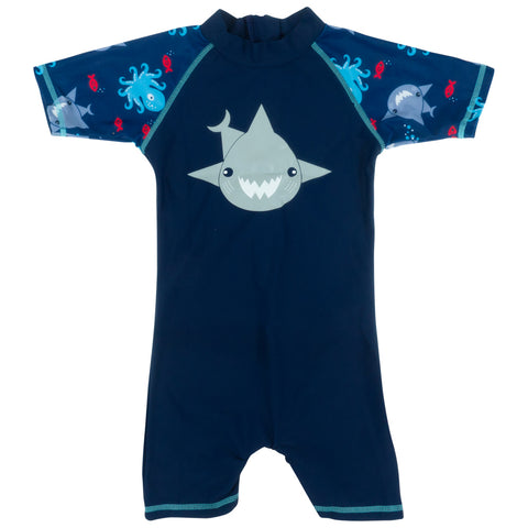 BANZ© Boys One-Piece Shark Swimsuit - Navy