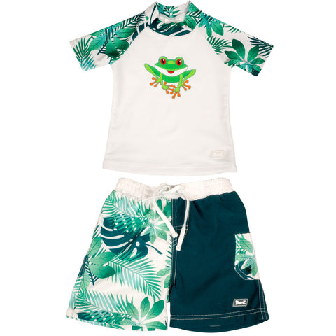 BANZ boys 2 piece frog swimsuit