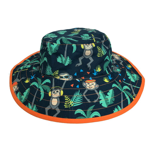 BANZ® Baby Boys Reversible Sun Hat - Monkey