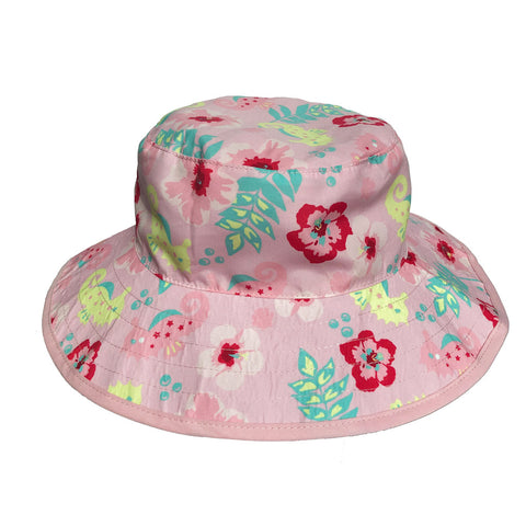 BANZ© Baby Girls Reversible Sun Hat - Pink Pansy