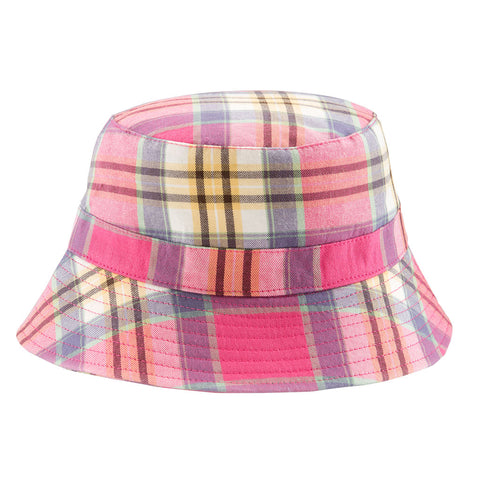 BANZ® Bucket Cotton Sun Hat - Pink Check
