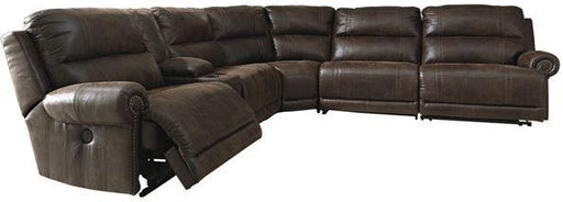Luttrell - Zero Wall Reclining Sectional - Espresso - Optional Power