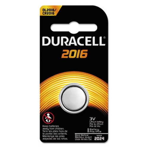Duracell Button Cell Lithium Battery, 3 V 2016