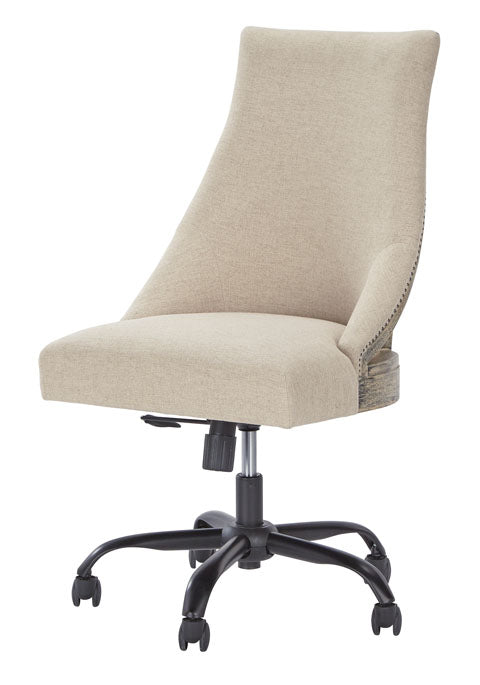 White Home Office Upholstered Swivel Desk Chair Furniture Express