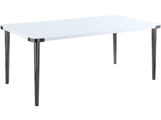 Riverbank Dining Table - Glossy White