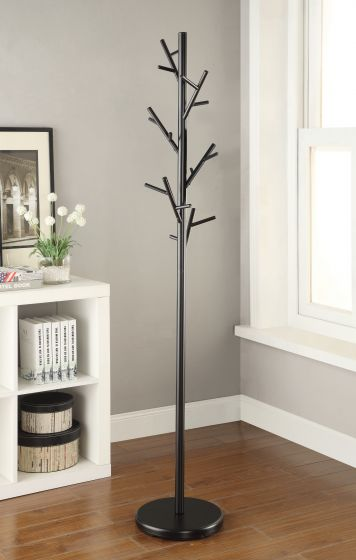 Branch Style Metal Coat Rack - Black
