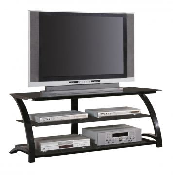 Arcoron Contemporary Black TV Console
