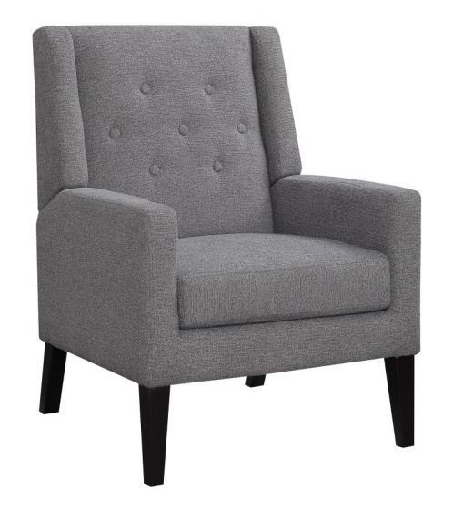 Accent Chair - Button Tuffed - Grey