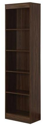 Classic 5 Shelf Narrow Bookcase -  3 Colors
