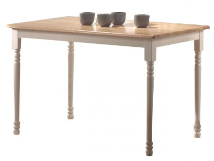 Bronson Small Dining Table - White/Natural