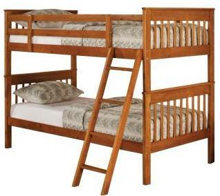 Parker - Youth Bunk Bed - Honey Pine
