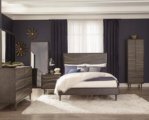 Tastemaker Bedroom Collection - Tara Bed - Graphite
