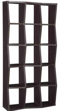 Solid Slant Bookcase -  2 Colors