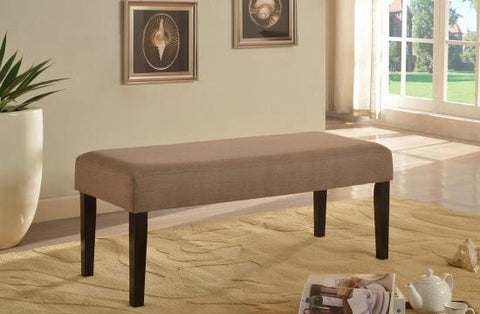 Accent Bench - Brown - Upholstered