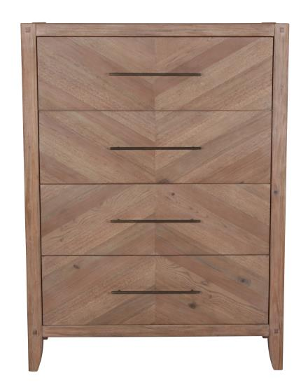 Workshop Bedroom Collection - Auburn Chest - White Washed Natural