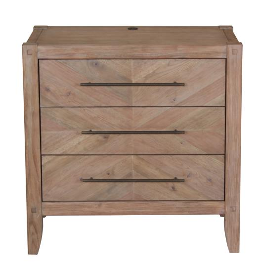 Auburn Three Drawer Nightstand