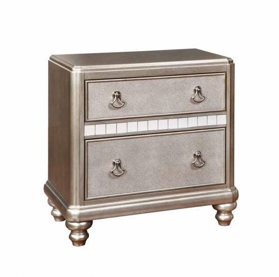 Bling Game Two Drawer Nightstand