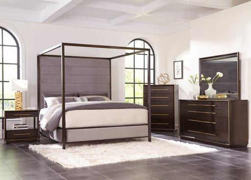 Tastemaker Bedroom Collection - Ingerson french front bed - Smoked Peppercorn (Dark espresso)