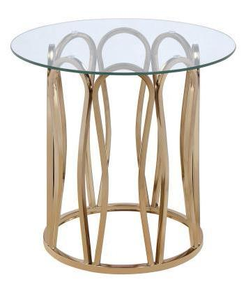Hemet - End Table - Chocolate Chrome