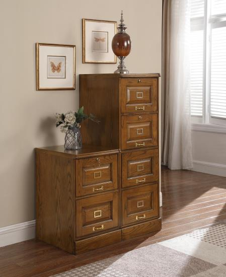 Warm Honey File Cabinet - 2 or 4 Drawer