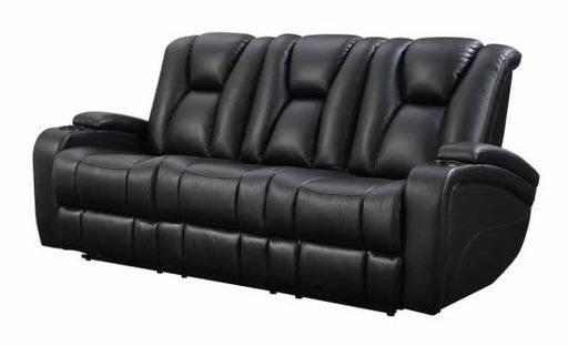 Delange - Power Reclining Sofa w/ Drop Down Table - ADJ Headrest