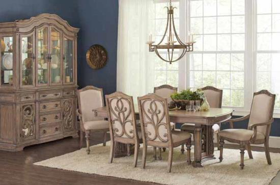 Ilana Dining Table - Antique Linen