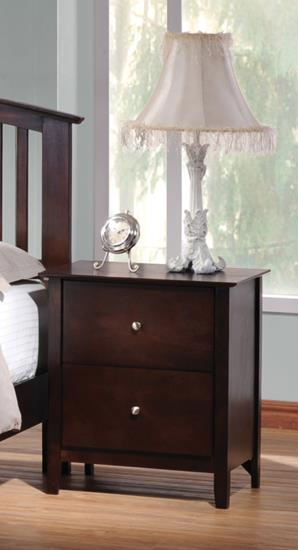 Tia Two Drawer Nightstand