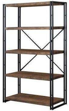 Rustic Modern Bookcase - Large - Weathered Chestnut
