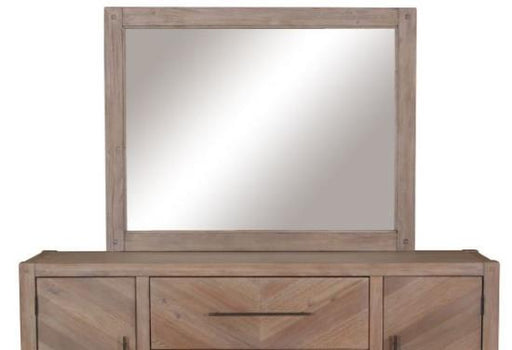 Workshop Bedroom Collection - Auburn Mirror - White Washed Natural
