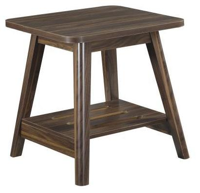 Modern End Table - Dark Walnut