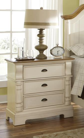Oleta Three Drawer Nightstand
