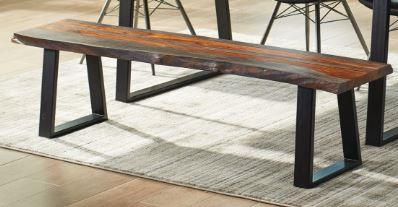 Jamestown Dining Bench - LIVE EDGE
