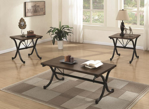 Scott Living - Coffee Table & 2 End Tables - Brown