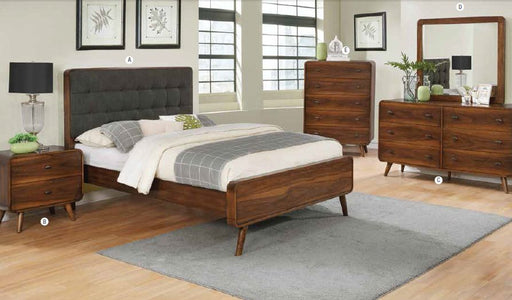 Robyn - Complete Bed Set - Dark Walnut
