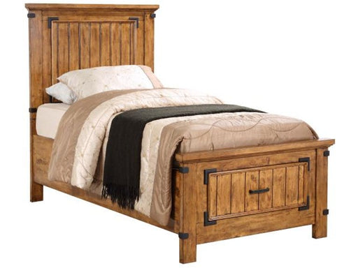 Brenner Twin Storage Bed - Rustic Honey
