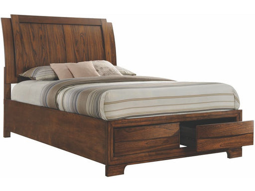 Hatfield - Bed - Cognac Brown