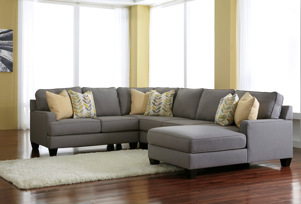 Chamberly Sectional w/ Chaise - Alloy