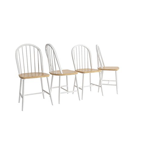 Bronson Dining Chair - White/Natural
