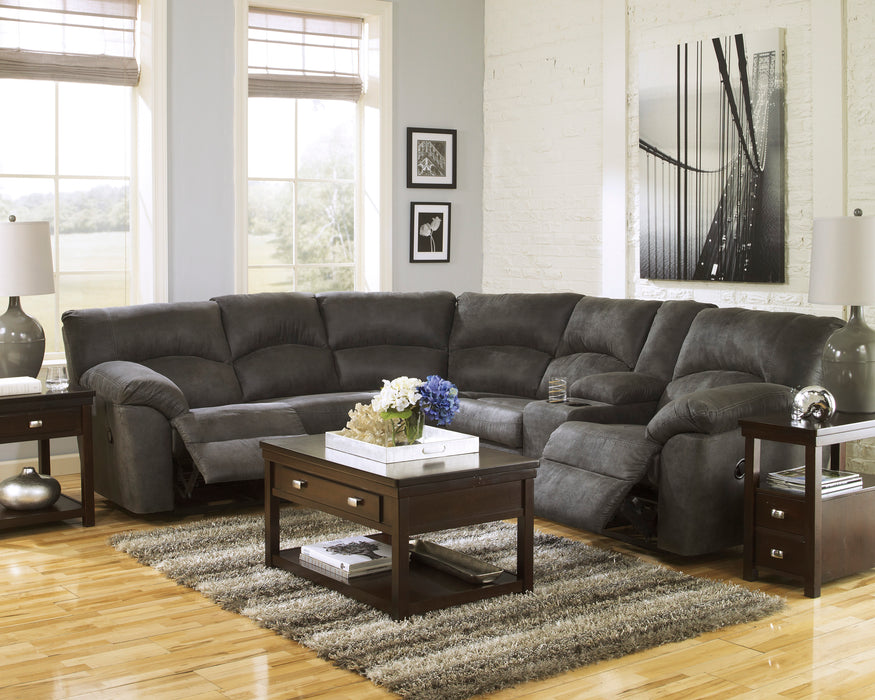 Tambo Reclining Sectional - Pewter